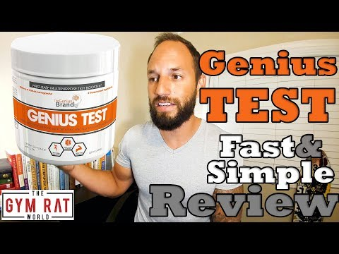 Genius Test Testosterone Booster | The Genius Brand |  Supplement Review