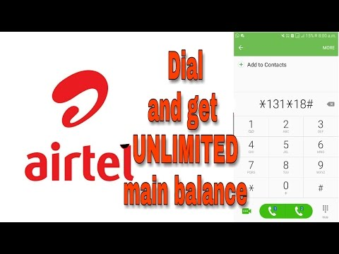 Get UNLIMITED airtel main balance for free. (Closed)