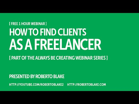 How to Find Clients as a Freelancer [Free Webinar]