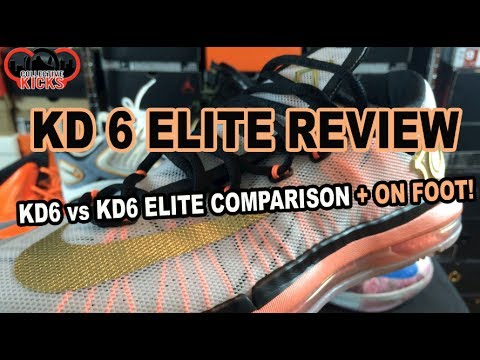 Nike KD 6 Elite vs KD 6 Comparison Review + On Foot (Gold Collection KD VI)