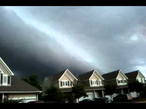 Large supercell front moving through 2010