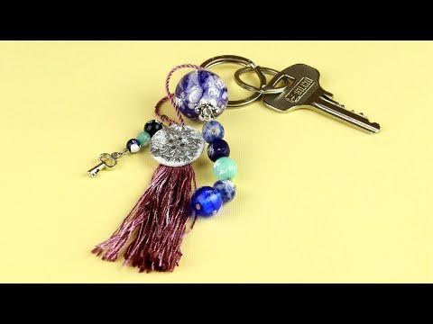 DIY Beaded Tassel Keychain