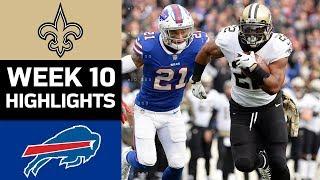 Saints vs. Bills   NFL Week 10 Game Highlights