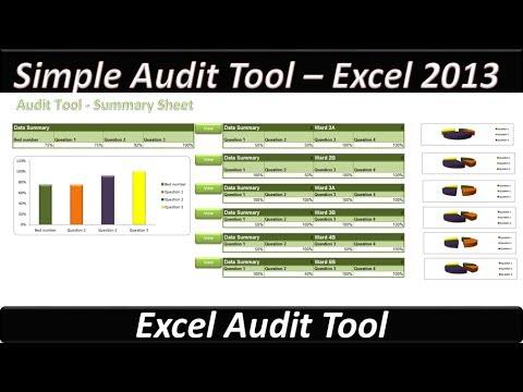 Simple Audit Tool - Excel 2013