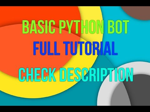 Discord.py basic bot tutorial | Working with android or Windows | Read Description