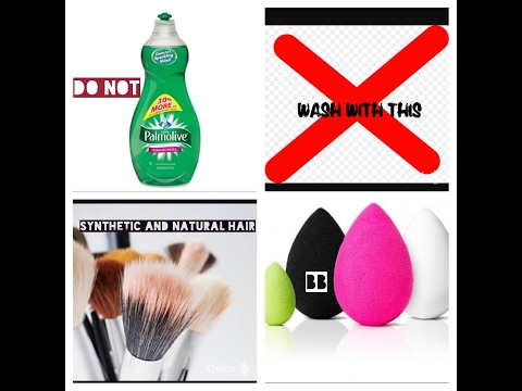HOW NOT TO: Wash Makeup Brushes + (Get Rid of Stains off Brushes and Beauty Blenders)