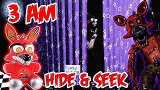 (DOOR KNOCKING?!) 3 AM OVERNIGHT ONE MAN HIDE AND SEEK CHALLENGE NIGHTMARE FOXY   WEIRD KNOCKING!!