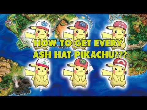 How To Get Every Ash Hat Pikachu In Pokemon Sun and Moon