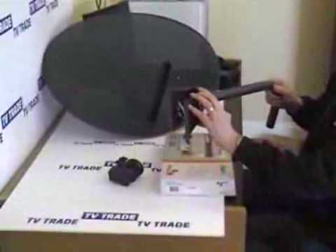 Triax SR110 receiver and Satellite dish - DIY Kit