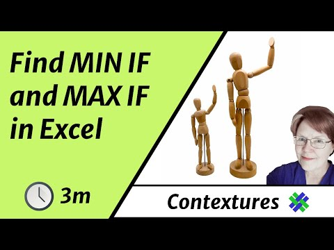 How to Find MIN IF and MAX IF in Excel