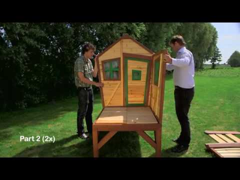 Step by step construction video wooden Playhouse Robin