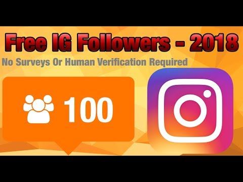 How to get free Instagram followers without human verification or surveys -  Working 2018