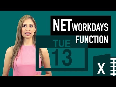 Excel NETWORKDAYS function: Calculate the number of working days between two dates