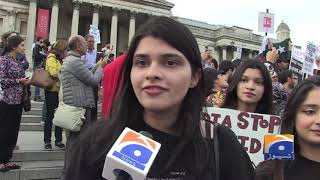 Londoners Stage Major Protest At Trafalgar Square Against India's Revocation Of Kashmir's