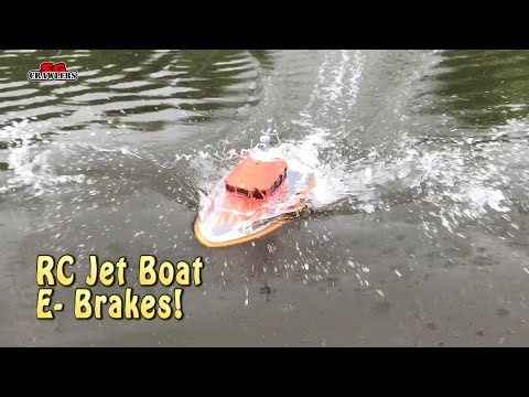 RC scale boat with jet propulsion and reverse buckets