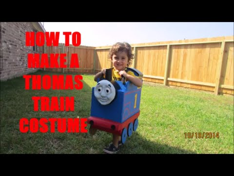 How To Make a Professional Thomas Train costume With 3D Face