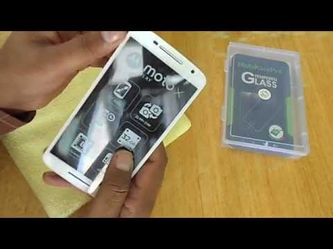 moto x play tempered glass installation