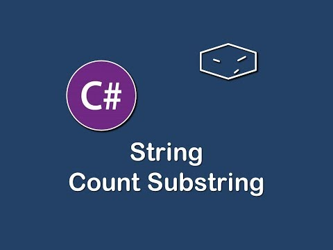 string count substrings in c#