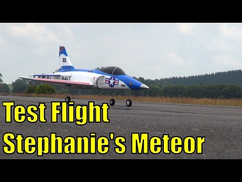 Test pilot Stephanie and the Dynam Meteor's first flight