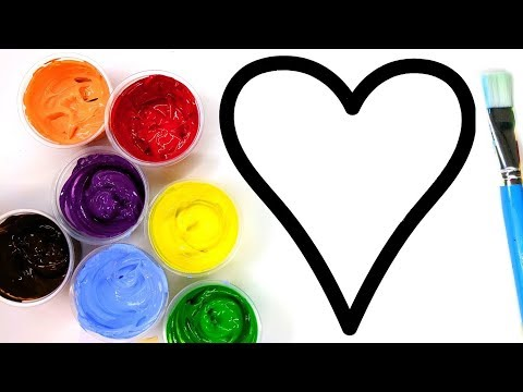 Painting Heart Sun Juice,  Painting Pages for Kids to Learn Painting  💜 (4K)