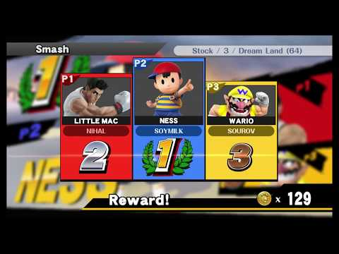 Playing The Super smash bros board game with Rows 1,4 and 5.
