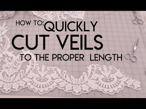 How to quickly cut veils to length. DIY veil. Bridal shop trick of the trade.