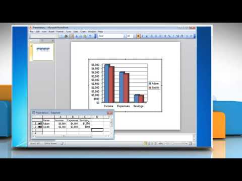 How to make a Column (Vertical Bar) Graph from a Table in PowerPoint 2010