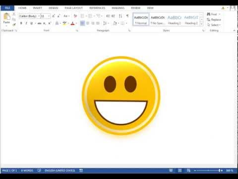 How to make Emoticon (Smiley) in Microsoft Word 2013
