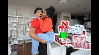 I Surprised my Boyfriend with a TON of EARLY CHRISTMAS GIFTS   VLOGMAS DAY 13