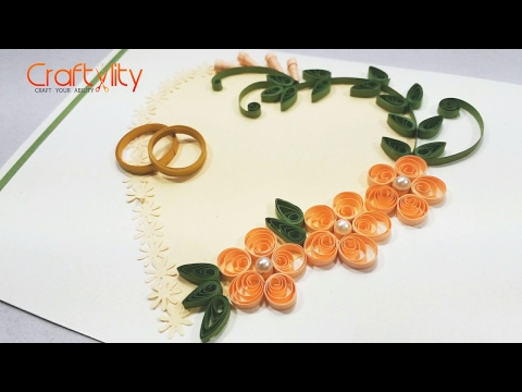 DIY Paper Quilling Wedding Cards Tutorial: How to make Paper Quilling Wedding Card Ideas