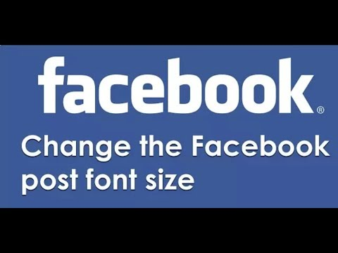 How to write in big letters on facebook