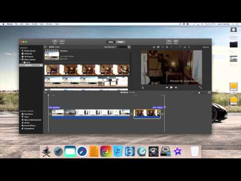 Putting Multiple Videos Into One Using iMovie