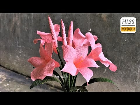 How to make fragipane paper flower|  Fragipane crepe paper flower making tutorials| Paper crafts