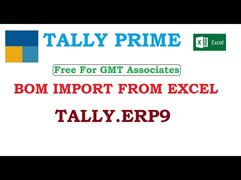 BOM Import From Excel to Tally.ERP9