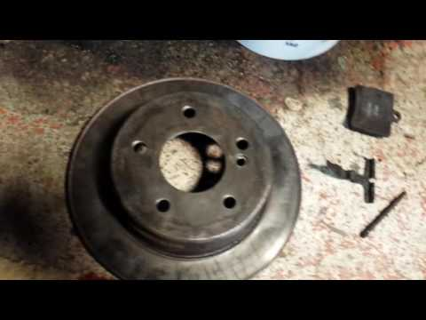 How to remove brake calibre and brake disc on Mercedes w202