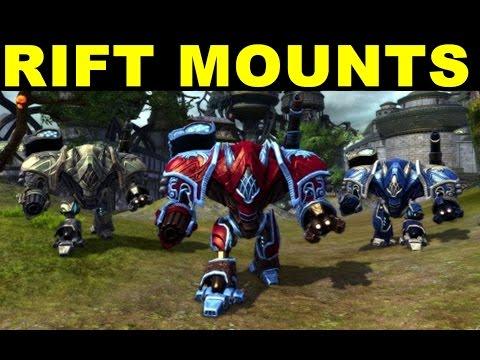 [Rift Mounts] My New Awesome Rift Mount Golden Emypreal Walker!