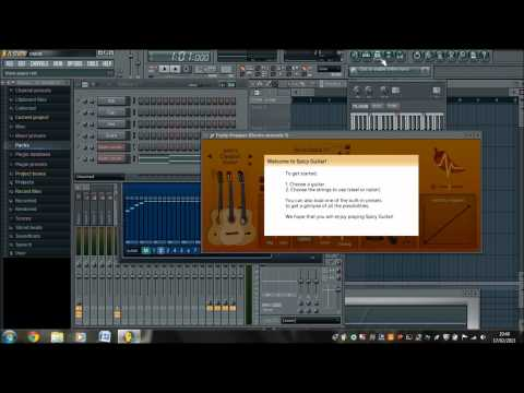 How to make an acoustic guitar sound electric through FL Studio
