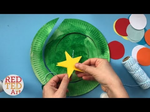 Paper Plate Christmas Tree Twirler - Easy Christmas Tree Paper Plates - Whirligigs