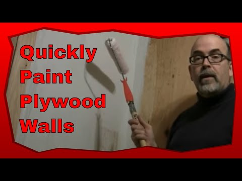 How To Paint A Plywood Wall With A Roller Brush Using This Step-By-Step Method