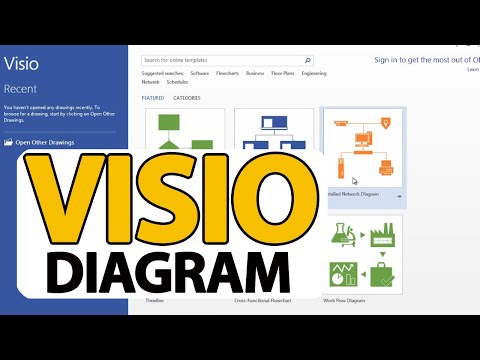 Tutorial - Microsoft Visio -  How To Create First Visio Diagram (Step by Step)