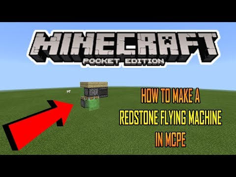 HOW TO MAKE A REDSTONE FLYING MACHINE IN MCPE (Minecraft PE)
