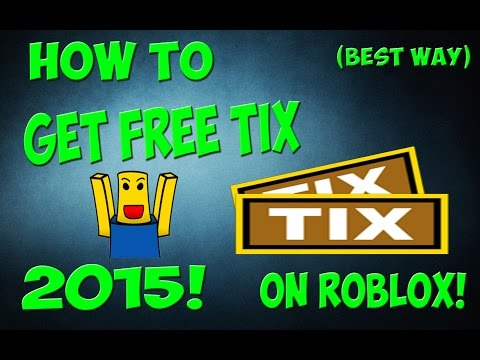 How to get ROBUX/TIX on roblox for FREE! (2016) (Still working) No cheating! Fast!