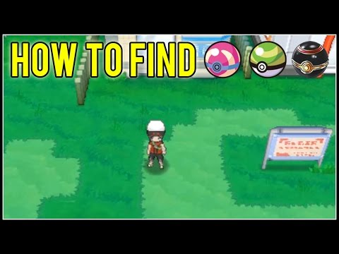 Let's Find | How & Where to Find the Heal Ball, Nest Ball, and Luxury Ball | Pokemon ORAS