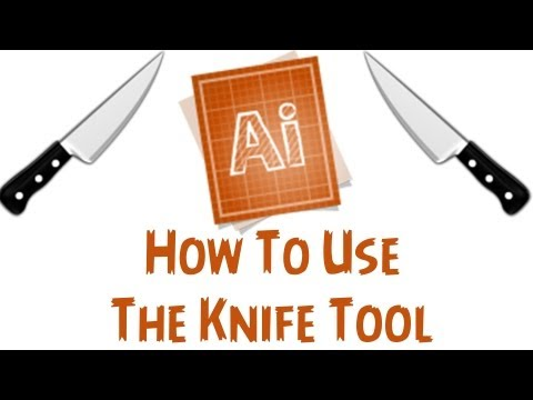 Adobe Illustrator CS6 Tutorial - How To Use The Knife Tool