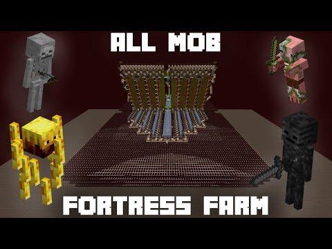 Wither Skeleton + Fortress Mob Farm [9.2 - 12.5 skulls/min]