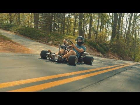 STICK SHIFT GO KART RIPS! 200cc 5 Speed Shifter Kart Build