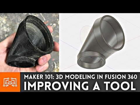 Using Fusion 360 to 3D Print a Hose Adapter // Maker 101
