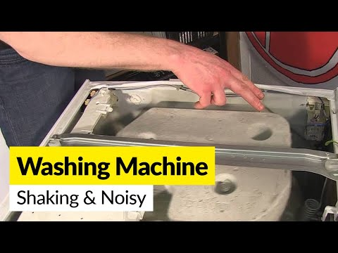 How to Prevent a Washing Machines Shaking and Spinning Noisily