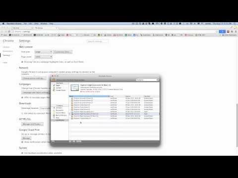 OSX - SSL Certificate Problem - HTTPS Error