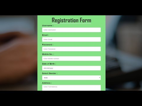Bootstrap Registration Form in Hindi|How To Create Responsive Registration (Signup) Form HTML5 ,CSS3